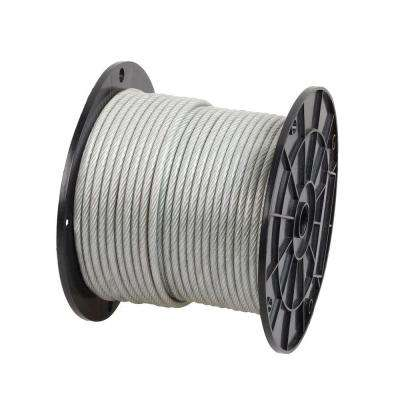 3/16 in. x 250 ft. Galvanized Vinyl-Coated Wire Rope
