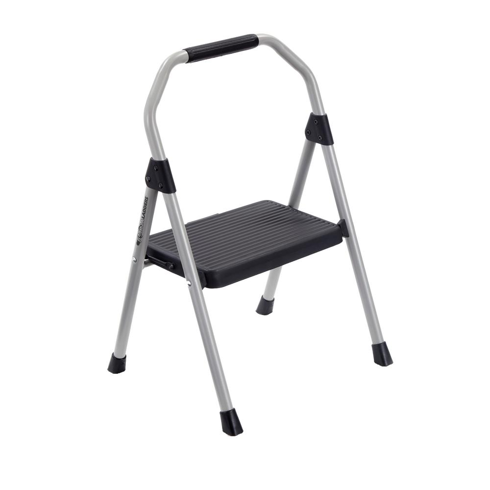 Gorilla Ladders 1-Step Steel Compact Step Stool, 225 lbs. Load Capacity Type II Duty Rating