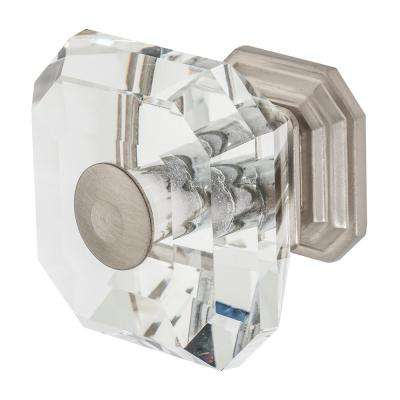 Clubhouse 1-5/16 in. Satin Nickel with Clear Crystal Cabinet Knob