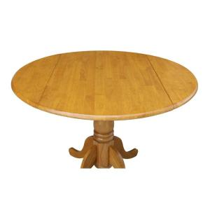 Oak Solid Wood Dropleaf Dining Table