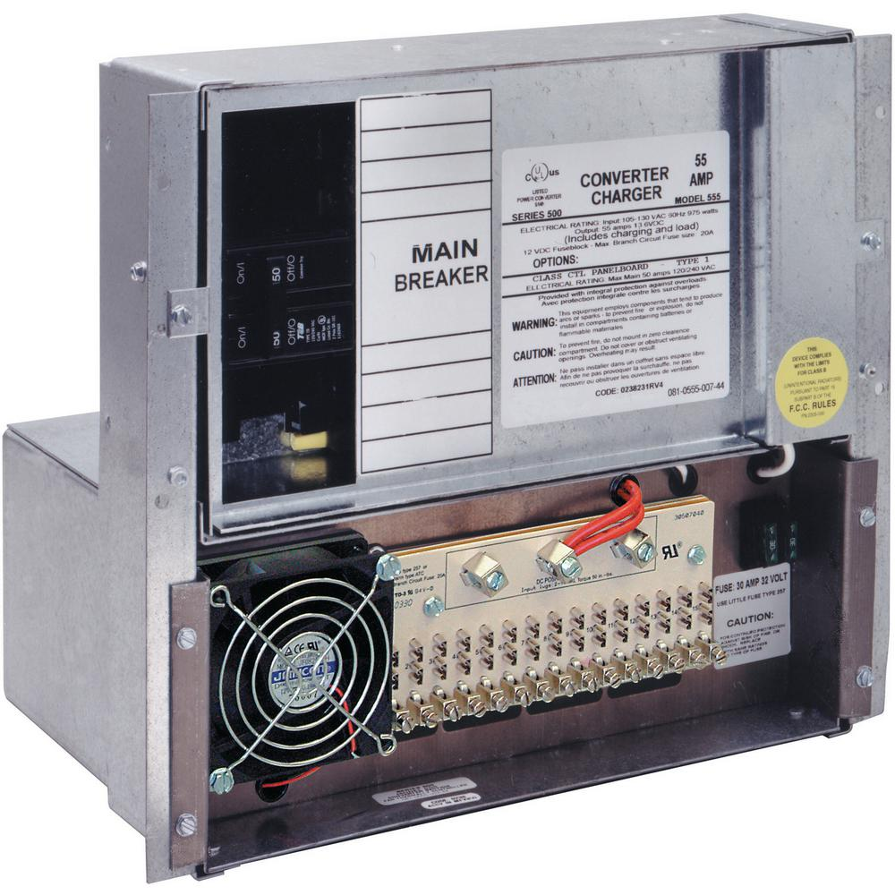 50 Amp Power Center with 55 Amp Converter