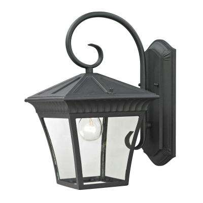Ridgewood 1-Light Outdoor Matte Textured Black Sconce