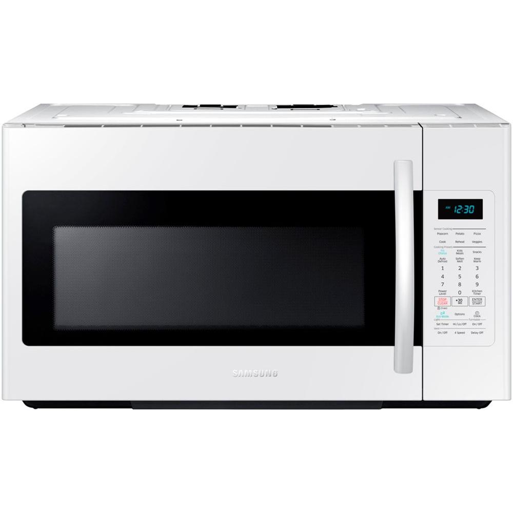 Samsung 30 In W 1 8 Cu Ft Over The Range Microwave White