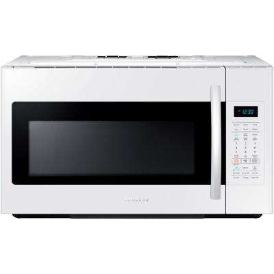 30 in. W 1.8 cu. ft. Over the Range Microwave in White with Sensor Cooking