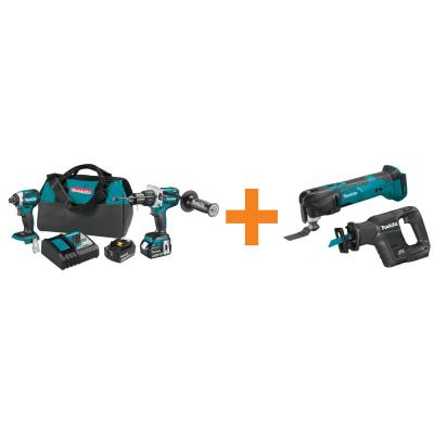 18V LXT Brushless 2-Piece Combo Kit with Bonus 18V LXT Sub-compact Brushless Recipro Saw and 18V LXT Cordless Multi-Tool