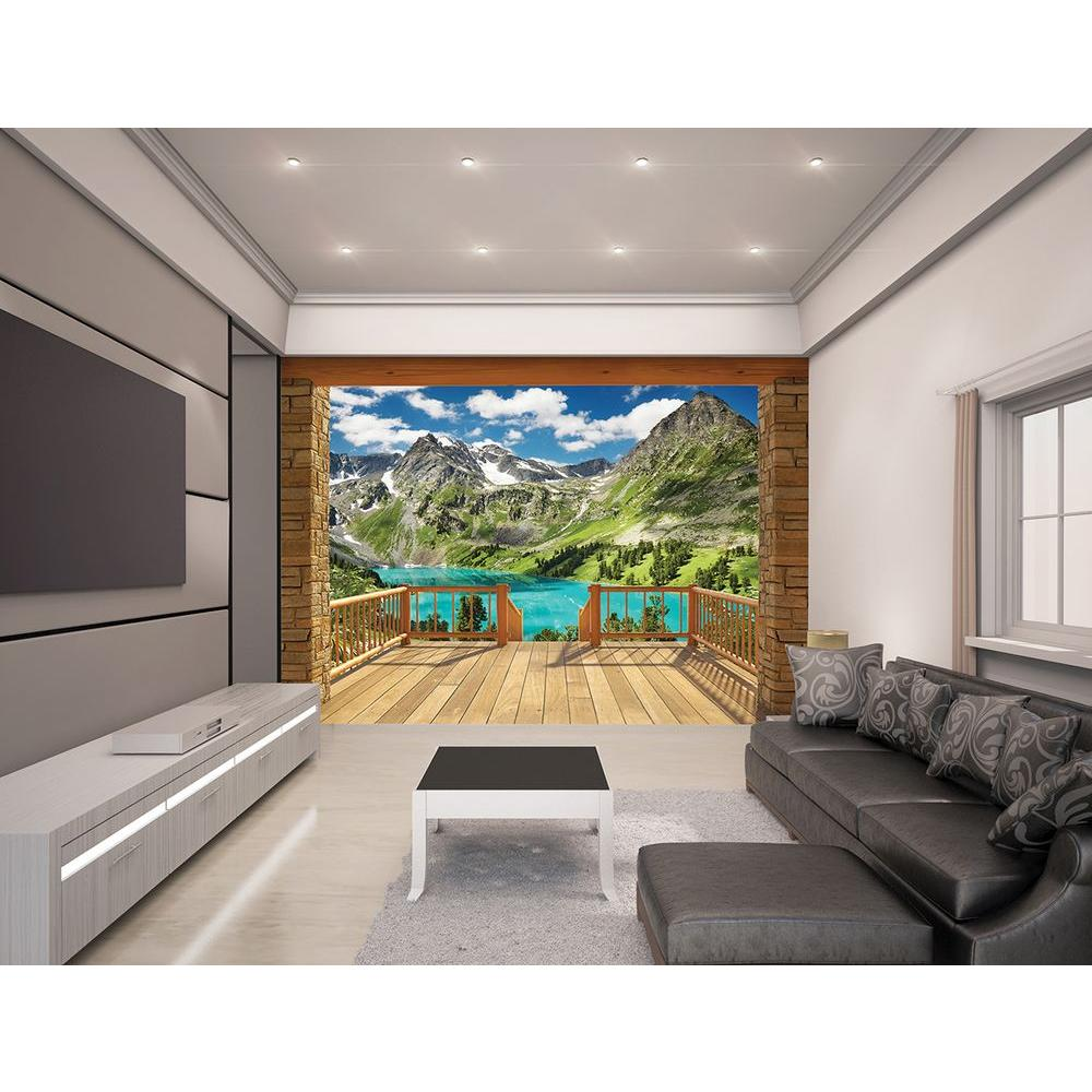 Walltastic Graffiti Wallpaper Mural: Walltastic 120 In. H X 96 In. W Alpine Mountain Wall Mural