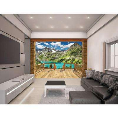 120 in. H x 96 in. W Alpine Mountain Wall Mural