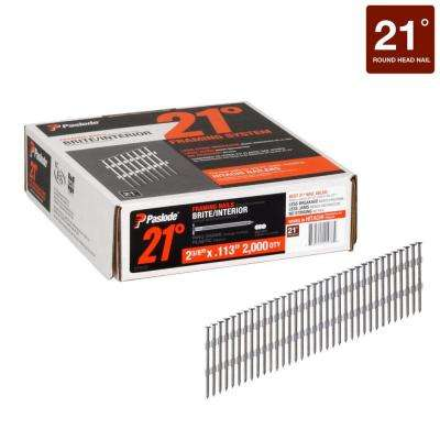 2-3/8 in. x 0.113-Gauge 21° Brite Ring Shank Plastic Collated Framing Nails 2000 per Box