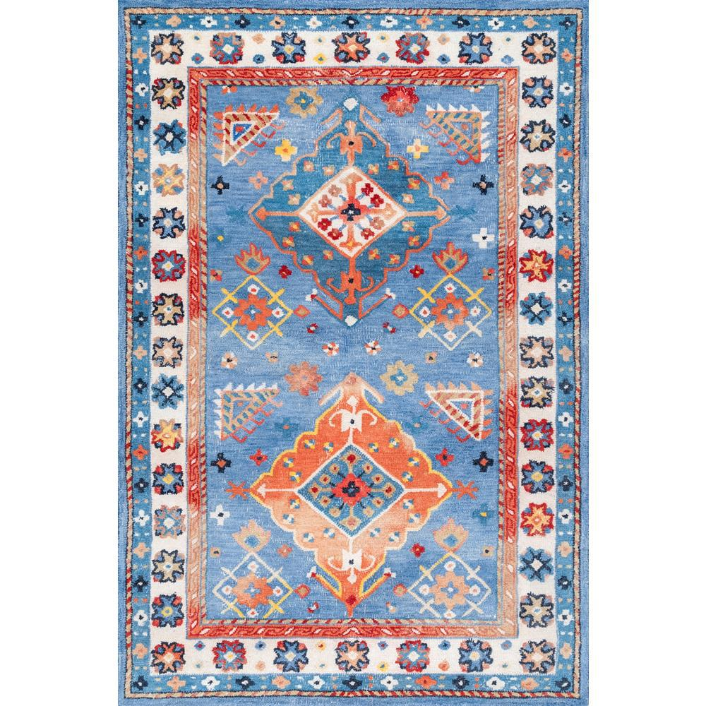 Nuloom Transitional Bohemian Casey Blue