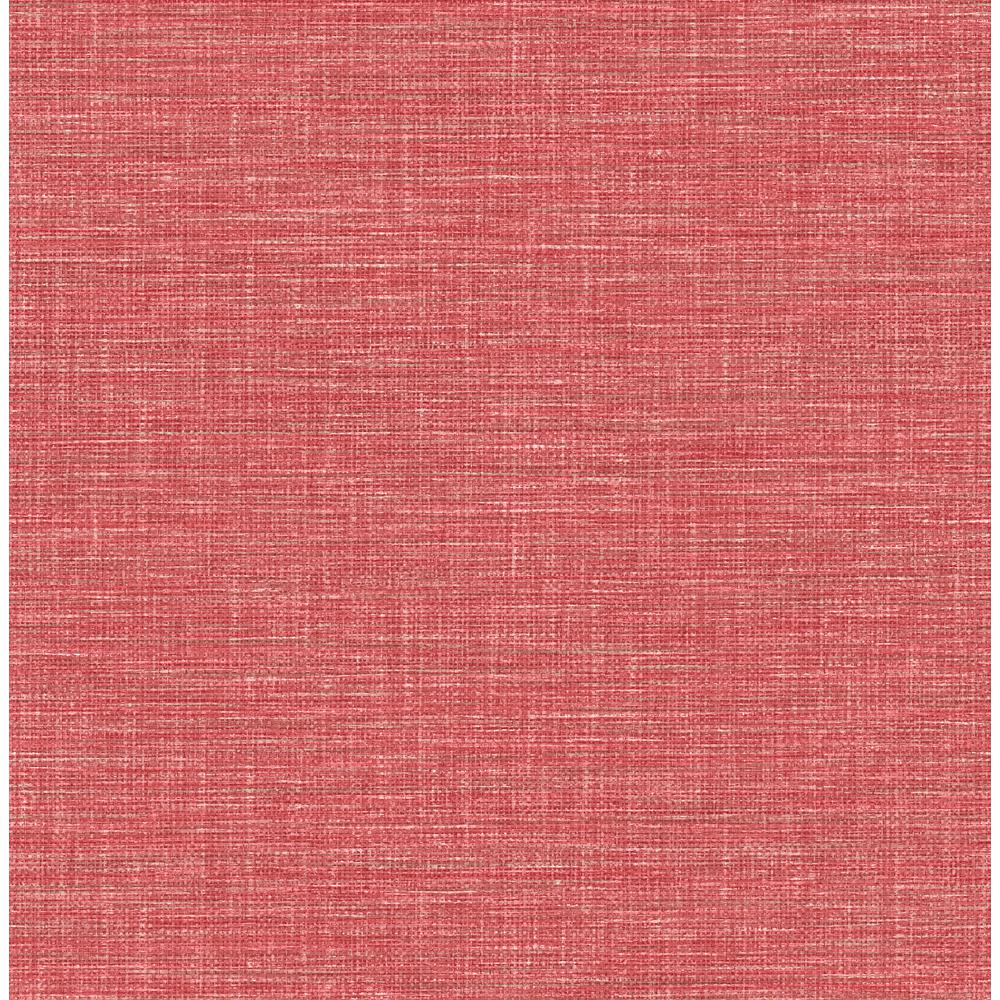 Your Questions About Grasscloth Wallpaper Answered: A-Street Exhale Coral Faux Grasscloth Wallpaper Sample