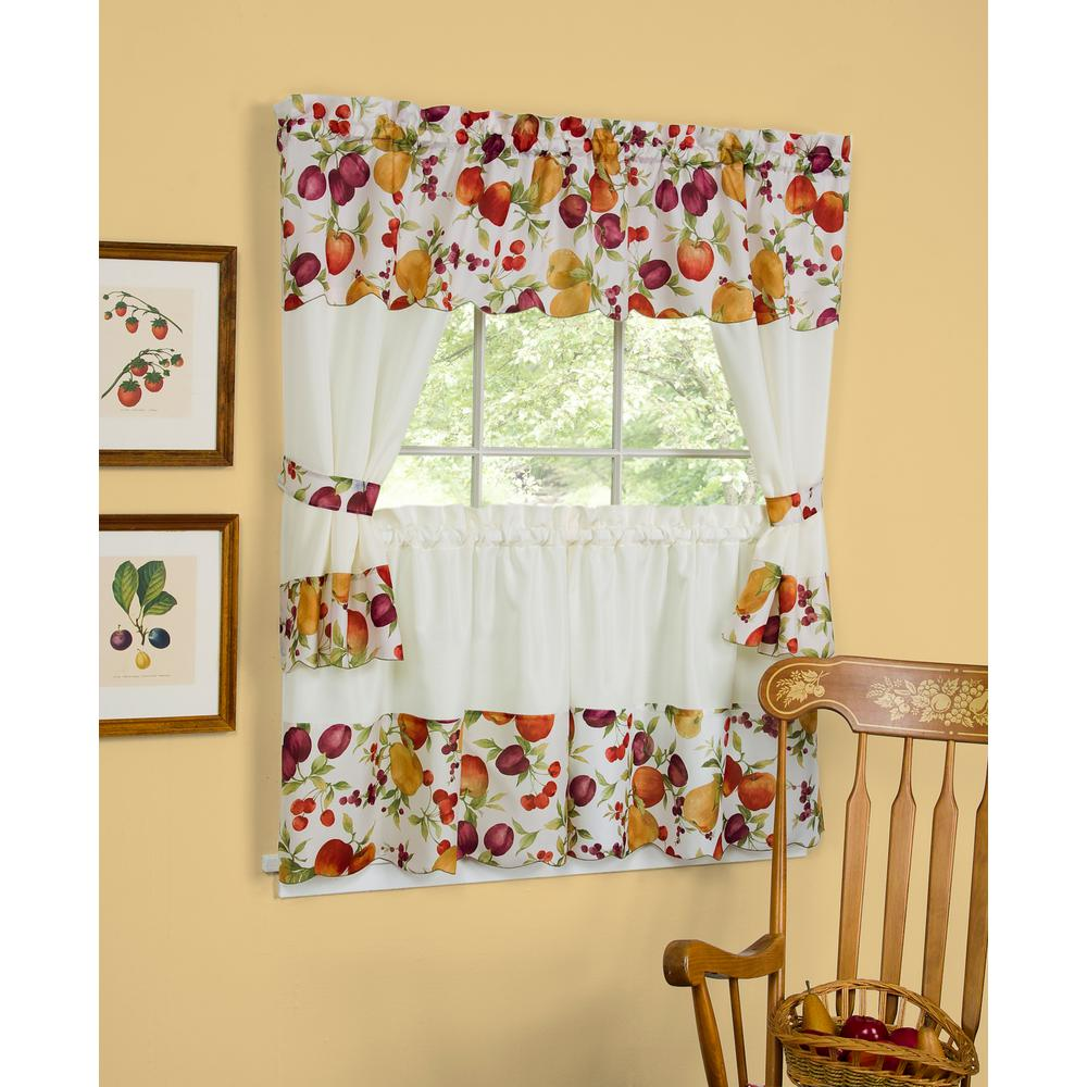 Sheer Chesapeake 24 in. L Polyester Window Curtain Set in Multi