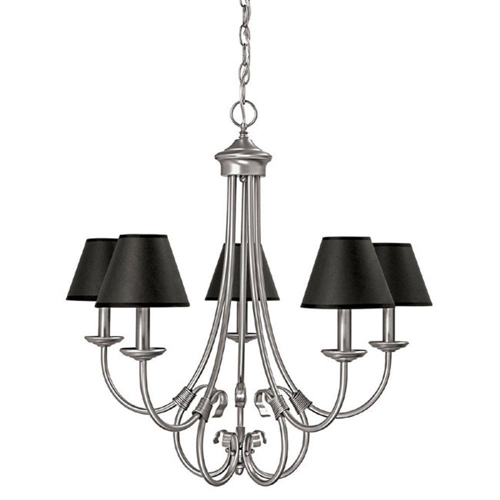 Filament Design 5-Light Matte Nickel Chandelier