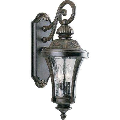 Nottington Collection 2-Light 19.6 in. Outdoor Forged Bronze Wall Lantern