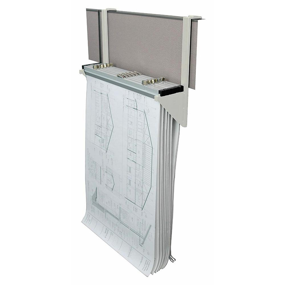 Charmant Cubicle Wall Rack For Blueprints, White