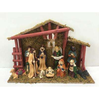 525 in deluxe nativity scene set 12 piece - Christmas Village Decorations