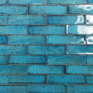 Ivy Hill Tile Moze Blue 3 In X 12 In 9mm Ceramic Subway