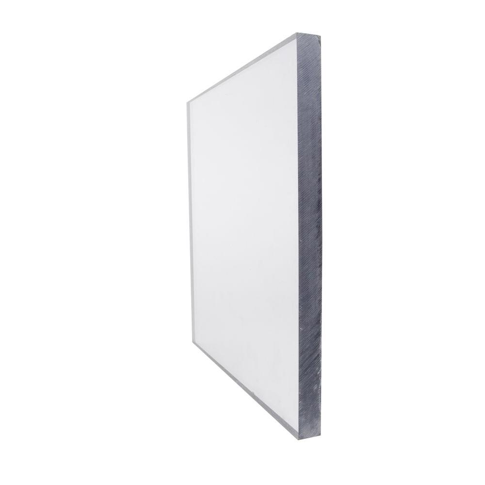48 in. x 96 in. x 0.500 in. Clear Polycarbonate Sheet