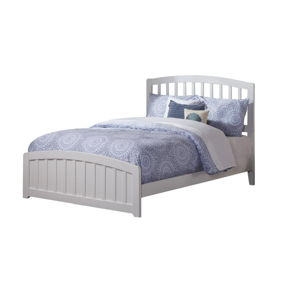 Atlantic Furniture Richmond White Full Traditional Bed with Matching ...