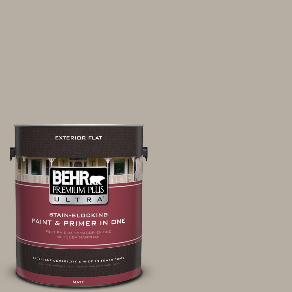 1-Gal. #PPU18-13 Perfect Taupe Flat Exterior Paint