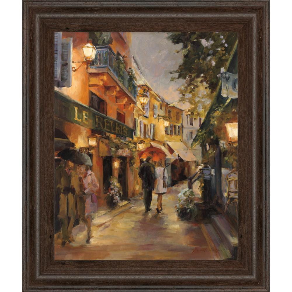 "Classy Art 22 in. x 26 in. ""Evening in Paris"" by Marilyn Hageman Framed Printed Wall Art"