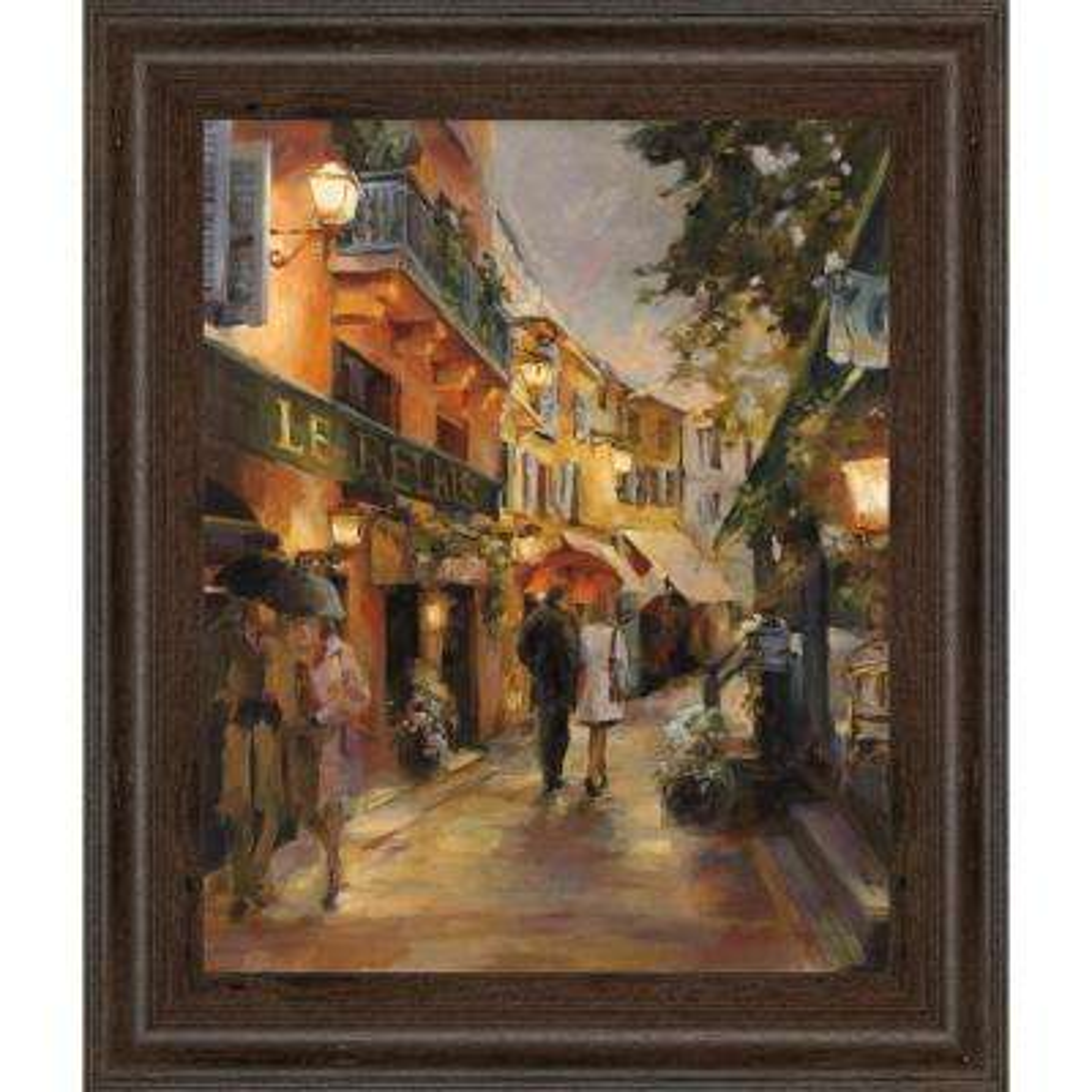 "22 in. x 26 in. ""Evening in Paris"" by Marilyn Hageman Framed Printed Wall Art"