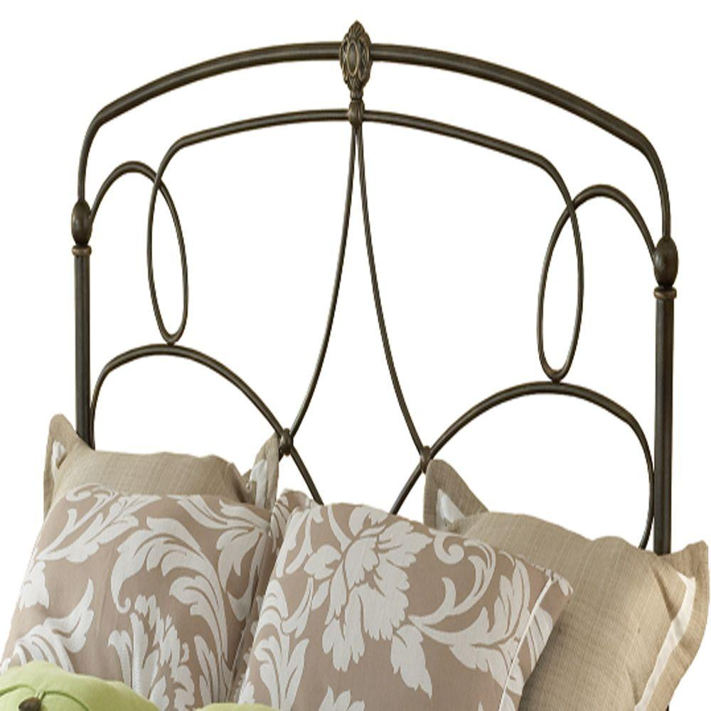 Hillsdale Furniture Parker Pewter King Headboard with Rails - DISCONTINUED