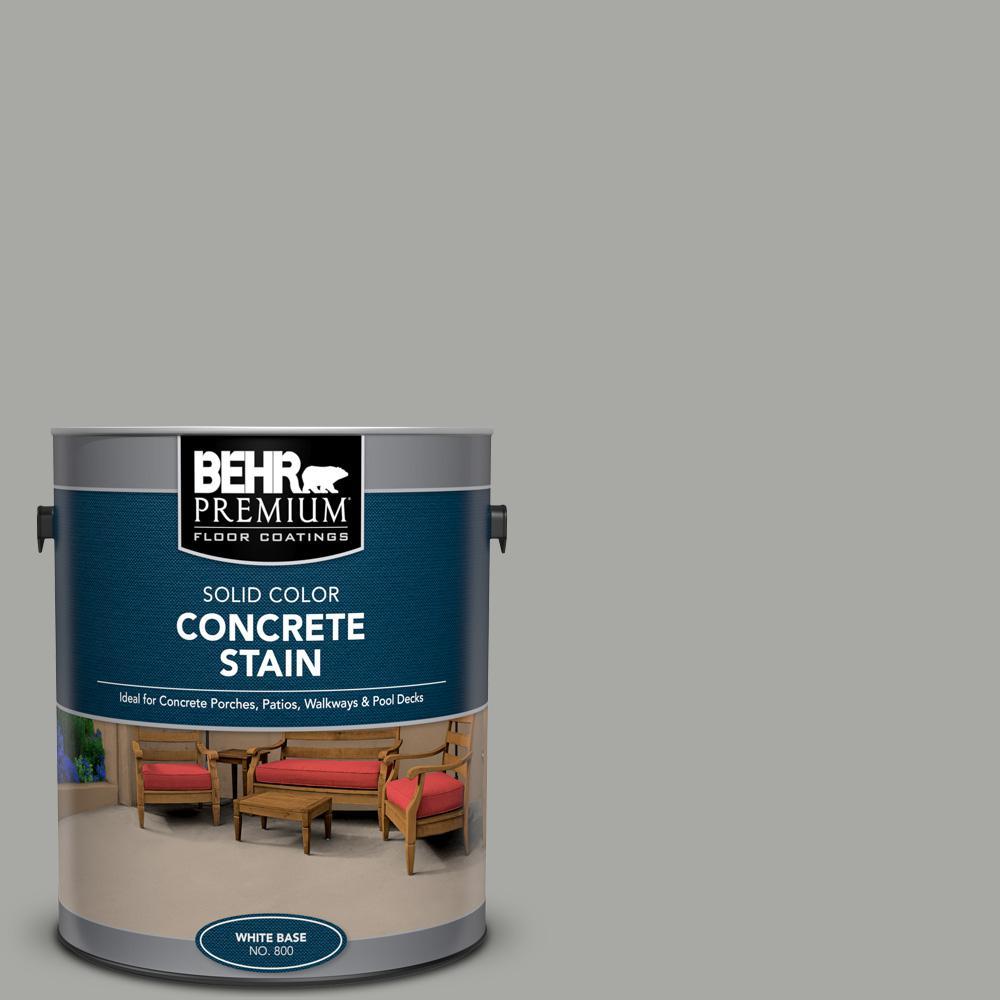 BEHR PREMIUM 1 gal. #PFC-68 Silver Gray Solid Color Flat Interior/Exterior Concrete Stain