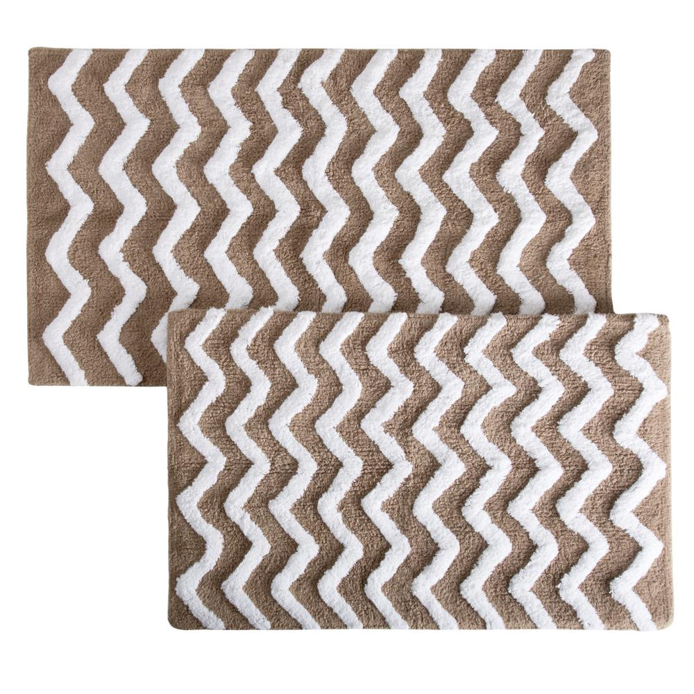 This Review Is From:Chevron Taupe 24.5 In. X 41 In. 2 Piece Bathroom Mat Set