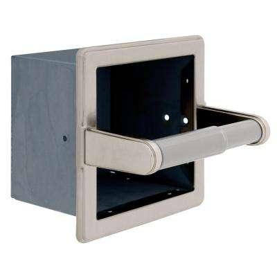 Bath accessories bath the home depot - Recessed brushed nickel toilet paper holder ...