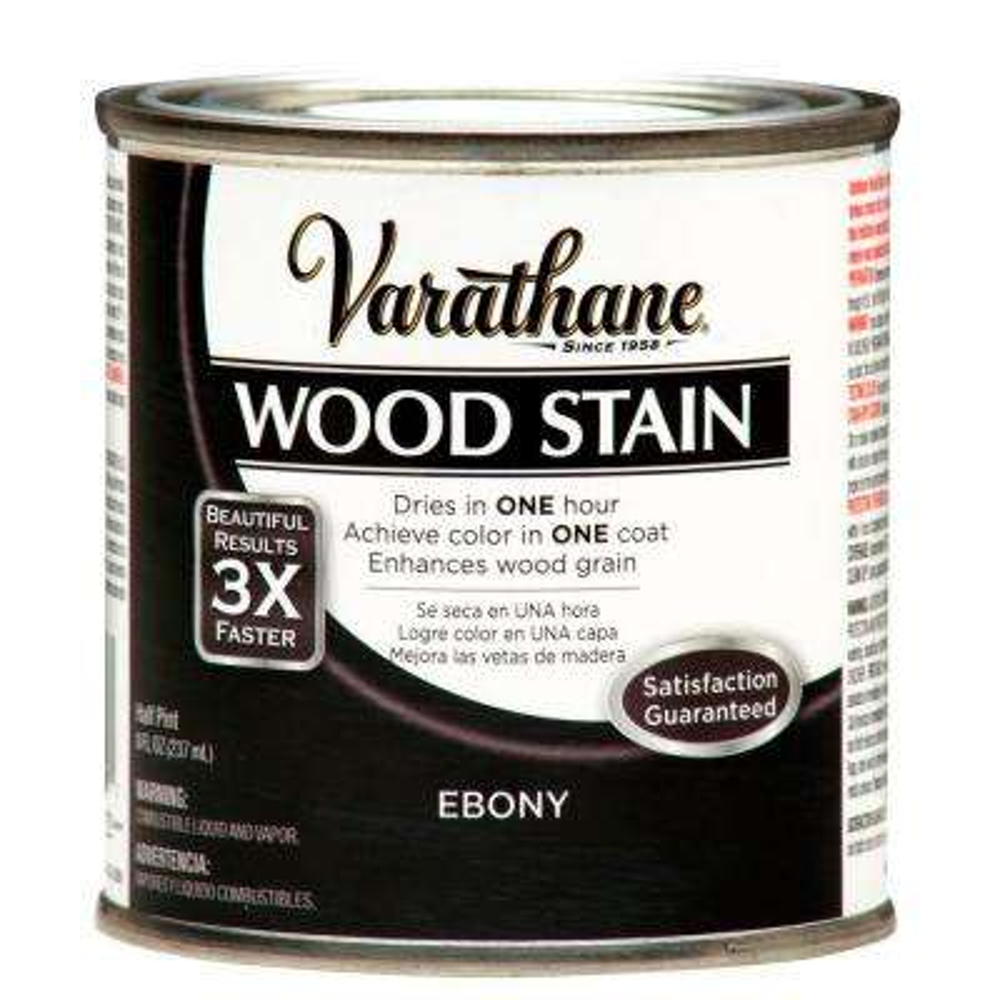 8 oz. Ebony Premium Fast Dry Interior Wood Stain (4-Pack)