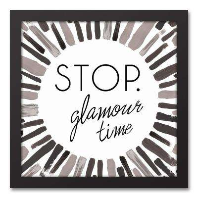 """12 in. x 12 in. """"Glamour Time"""" Printed Framed Canvas Wall Art"""