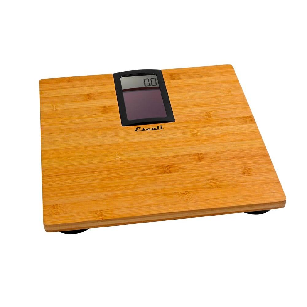 Digital Solar Bamboo Bathroom Scale