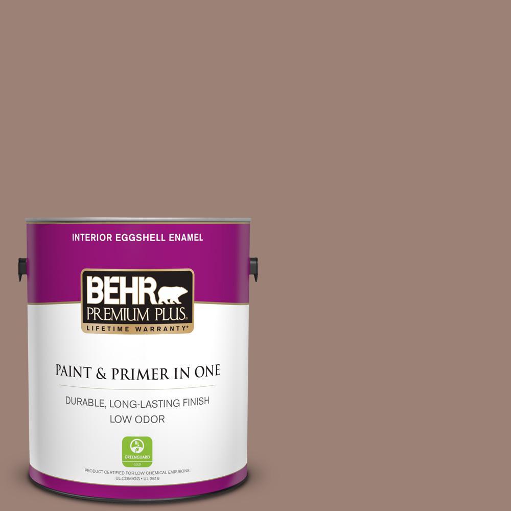 N150 4 modern mocha eggshell enamel low odor interior paint and primer in one