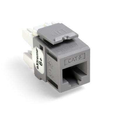 QuickPort Extreme CAT 6 T568A/B Wiring Connectors, Gray (25-Pack)