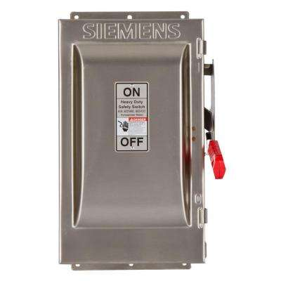 Heavy Duty 60 Amp 600-Volt 3-Pole Type 4X Non-Fusible Safety Switch