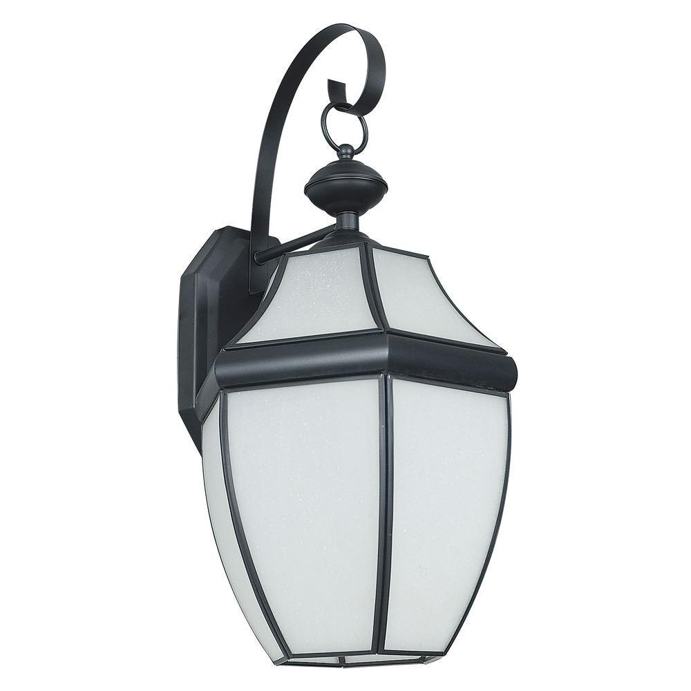 Fergerson 1-Light Black Outdoor Wall Lantern