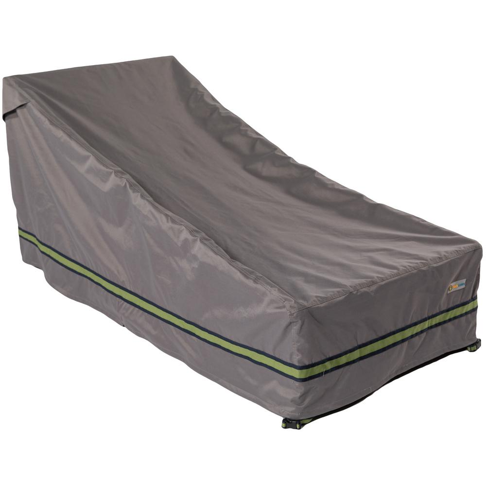 Duck Covers Soteria 82 in. Grey Double Wide Patio Chaise ...