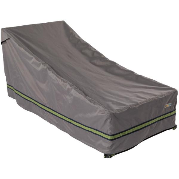 Soteria 82 in. Grey Double Wide Patio Chaise Lounge Cover