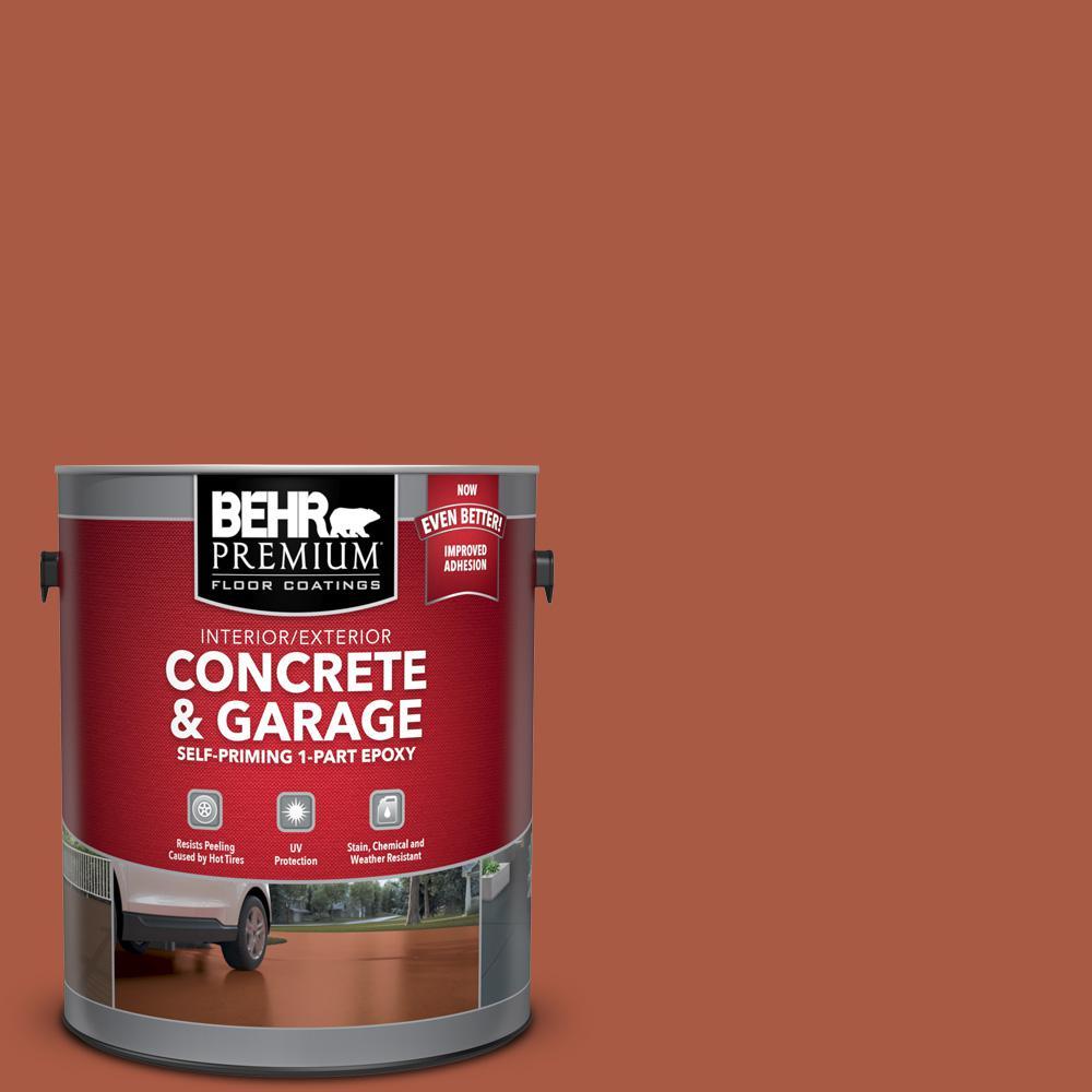 BEHR Premium 1 gal. #M190-7 Colorful Leaves Self-Priming 1-Part Epoxy Satin Interior/Exterior Concrete and Garage Floor Paint