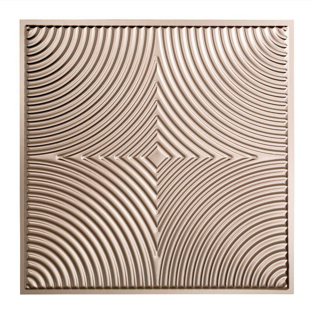 Fasade Echo - 2 ft. x 2 ft. Lay-in Ceiling Tile in Brushed Nickel