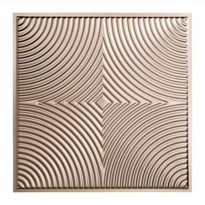 Echo - 2 ft. x 2 ft. Lay-in Ceiling Tile in Brushed Nickel
