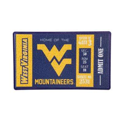 West Virginia University 30 in. x 18 in. Vinyl Indoor/Outdoor Turf Floor Mat