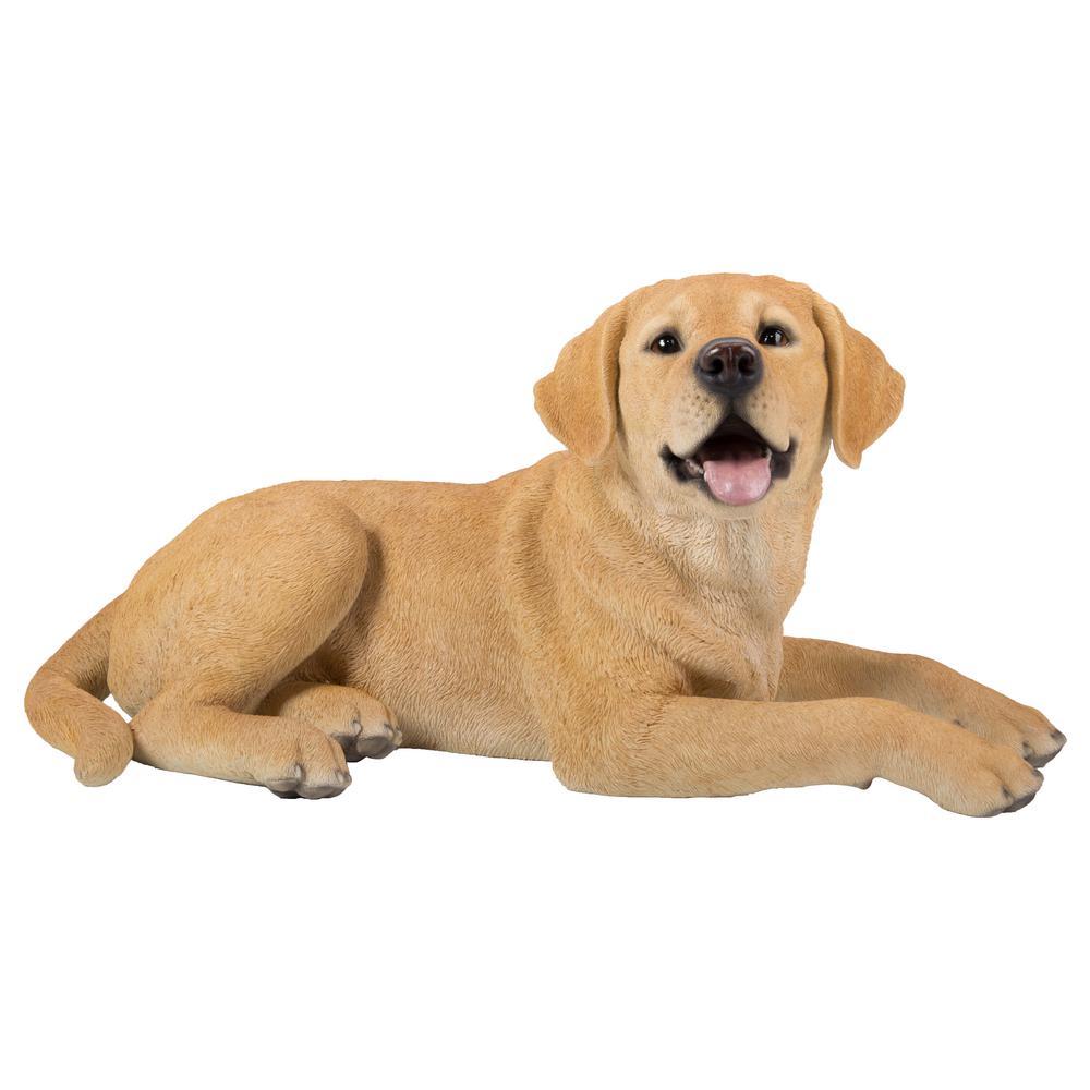 Yellow Labrador Lying Down Statue