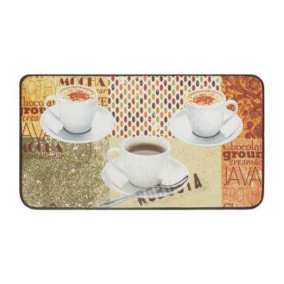 Coffee Patch Anti-Fatigue 20 in. x 36 in. Faux Leather Kitchen Mat