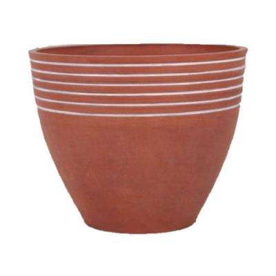 Striped 14 in. x 11 in. Terra Cotta PSW Pot