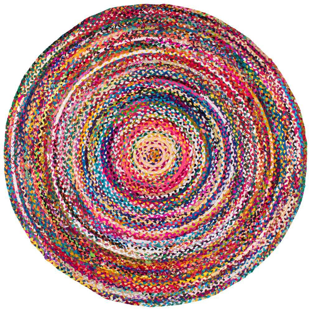 Nuloom Tammara Colorful Braided Multi 4