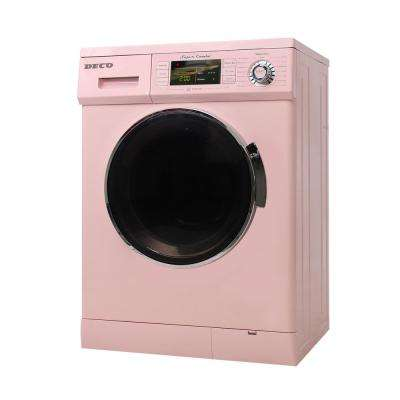 1.6 cu. ft. Compact Combo Washer and Electric Dryer with Optional Condensing/Venting and Sensor Dry in Pink
