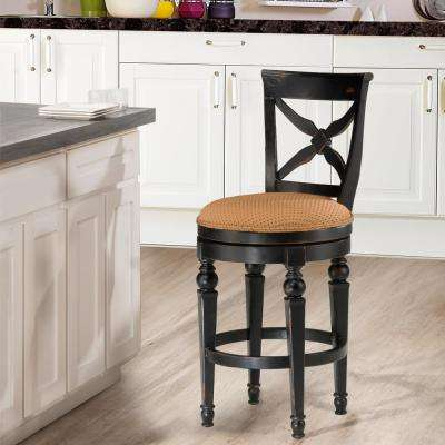 Etonnant Black And Honey Cushioned Bar Stool