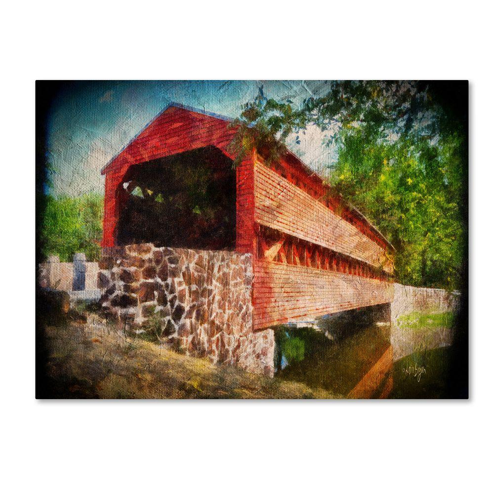 Trademark Fine Art 22 in. x 32 in. Old Covered Bridge Canvas Art