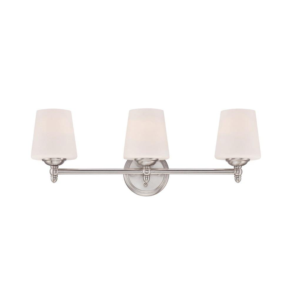 Designers Fountain Darcy 3 Light Brushed Nickel Bath Bar Light. Designers Fountain Darcy 3 Light Brushed Nickel Bath Bar Light
